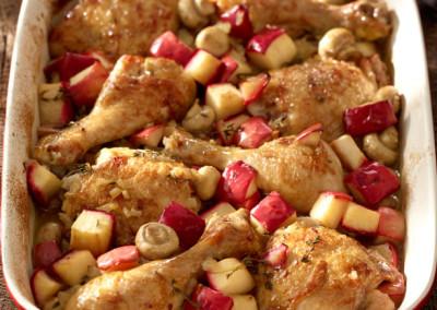 Casserole rapide de poulet aux pommes Red Prince