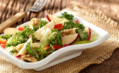 Healthy Red Prince Apple Waldorf Salad with Kale