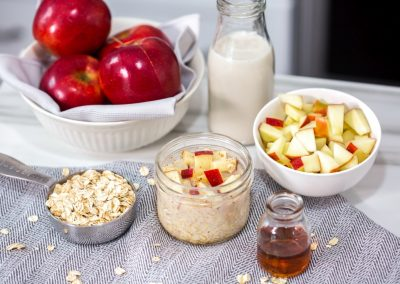Overnight Oats with Red Prince® Apples and Cinnamon