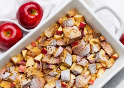 Baked Red Prince Apple French Toast